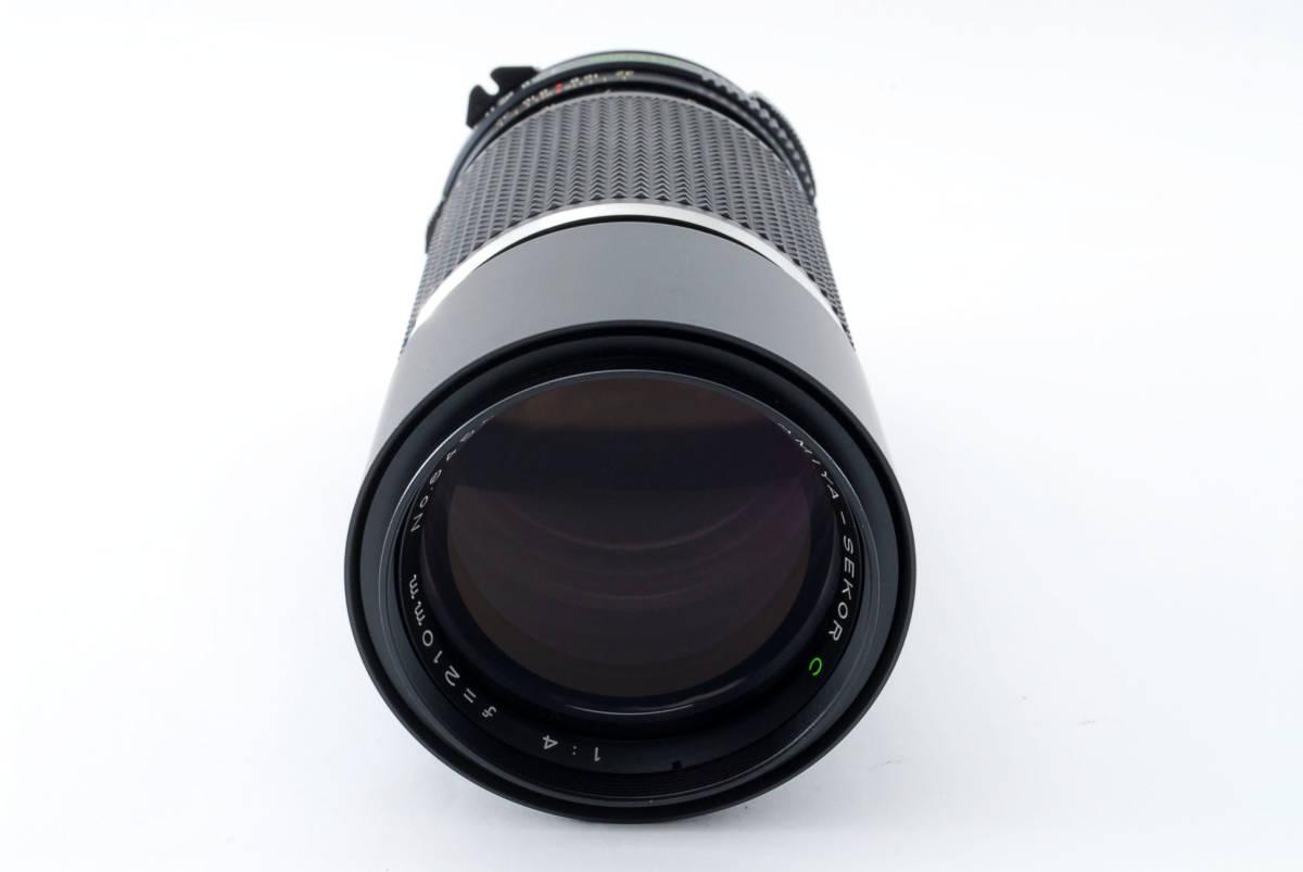 ★即決★価格交渉あり★マミヤ Mamiya Sekor C 210mm F4 中判用レンズ<ケース付、前後キャップ>#4479_画像2