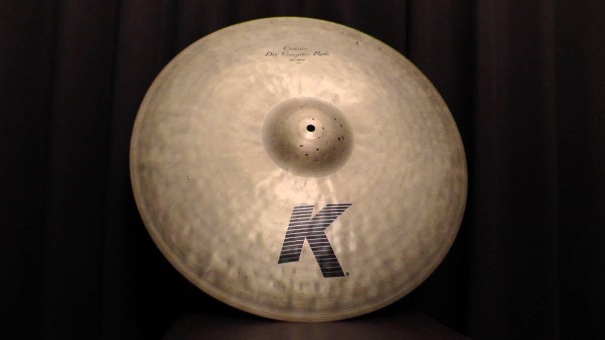 """【廃盤レア】22"""" 2071g Custom Dry Complex Ride [THIN] K Zildjian USA Bill Stewart サイン入り【動画あり】"""