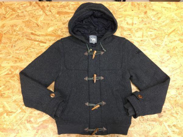 スピワック SPIEWAK ショートダッフルコート ジャケット メンズ ウール 中綿キルティング シンサレートTHINSULATE チャコールグレー S_画像1