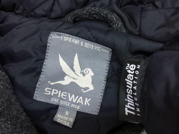 スピワック SPIEWAK ショートダッフルコート ジャケット メンズ ウール 中綿キルティング シンサレートTHINSULATE チャコールグレー S_画像2