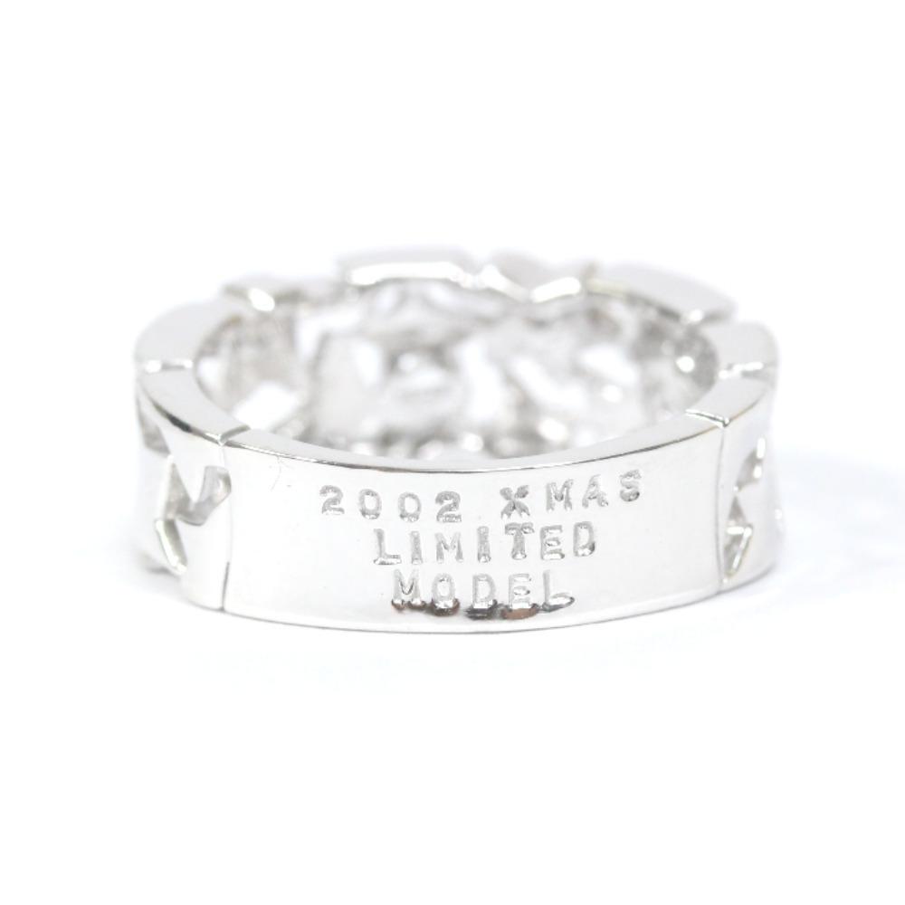 即決 スタージュエリー スター リング・指輪 レディース K18ホワイトゴールド ダイヤモンド ジュエリー 8.5号 シルバー_画像4