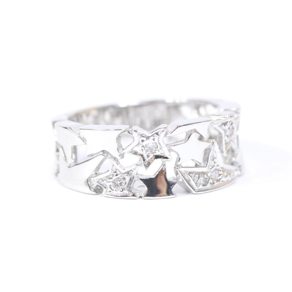 即決 スタージュエリー スター リング・指輪 レディース K18ホワイトゴールド ダイヤモンド ジュエリー 8.5号 シルバー_画像2