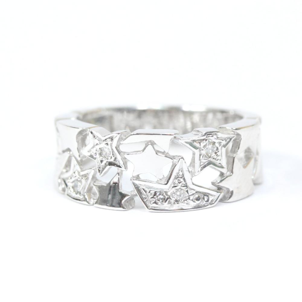 即決 スタージュエリー スター リング・指輪 レディース K18ホワイトゴールド ダイヤモンド ジュエリー 8.5号 シルバー_画像3