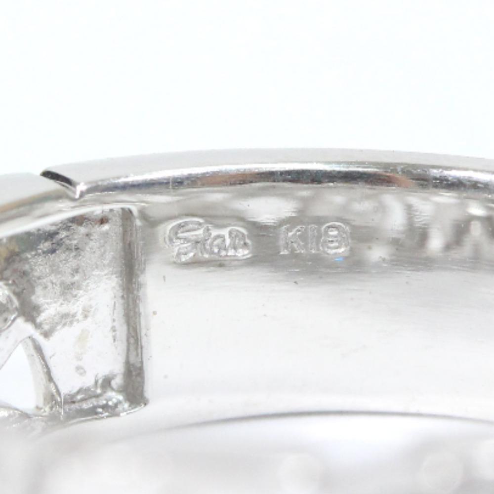 即決 スタージュエリー スター リング・指輪 レディース K18ホワイトゴールド ダイヤモンド ジュエリー 8.5号 シルバー_画像6