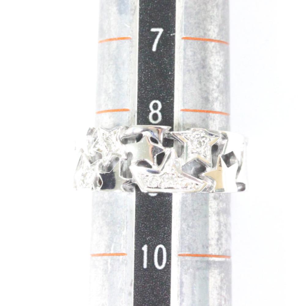 即決 スタージュエリー スター リング・指輪 レディース K18ホワイトゴールド ダイヤモンド ジュエリー 8.5号 シルバー_画像8