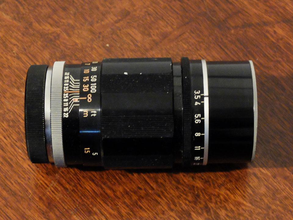 【中古/ジャンク】キヤノン 135mm f3.5 (Lマウント) +135mmファインダー:Canon 135mm f3.5 (L-Mount) with 135mm Finder_画像4