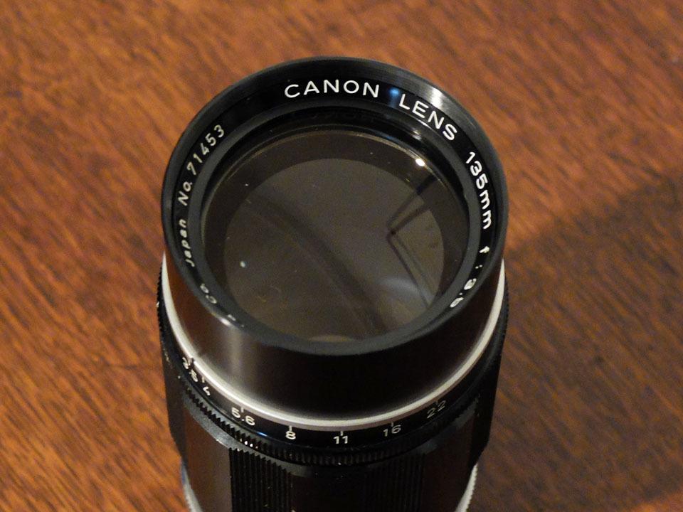 【中古/ジャンク】キヤノン 135mm f3.5 (Lマウント) +135mmファインダー:Canon 135mm f3.5 (L-Mount) with 135mm Finder_画像8