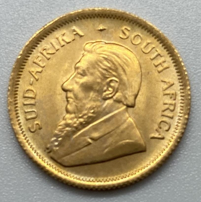 南アフリカ 1983年 クルーガーランド金貨 1/10オンス K22 本物保証_画像1