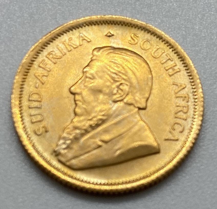 南アフリカ 1983年 クルーガーランド金貨 1/10オンス K22 本物保証_画像3