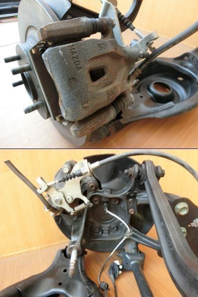 H24 CX-5 KE2FW 2WD 左リア足回り/左R足周り_画像3