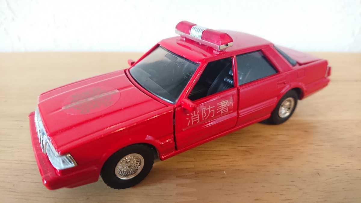 ヨネザワ ダイヤペット ミニカー トヨタ クラウン 消防広報車 消防車 日本製_画像1