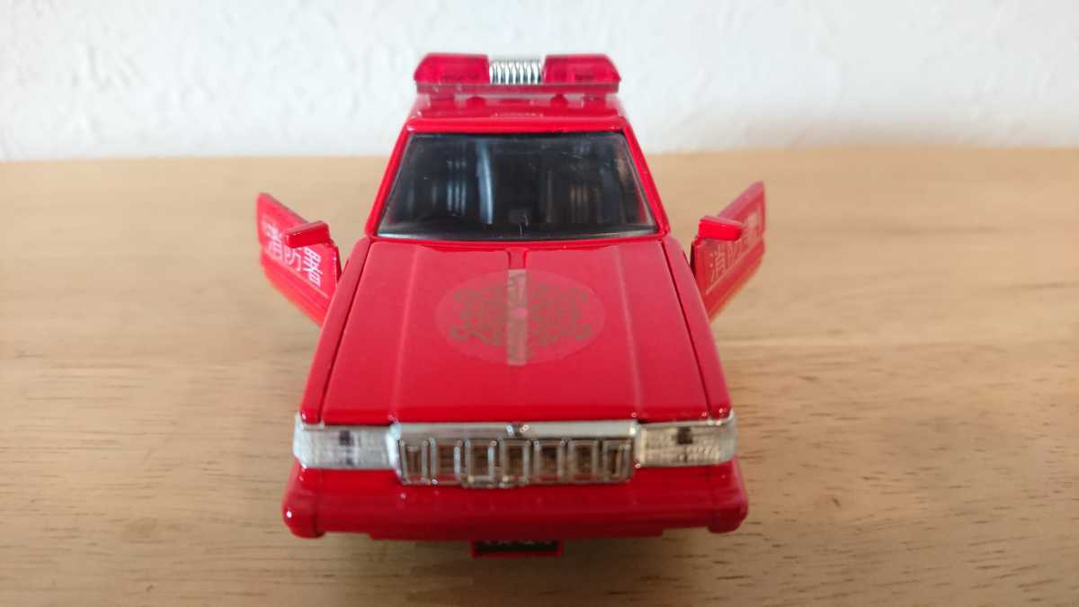 ヨネザワ ダイヤペット ミニカー トヨタ クラウン 消防広報車 消防車 日本製_画像8