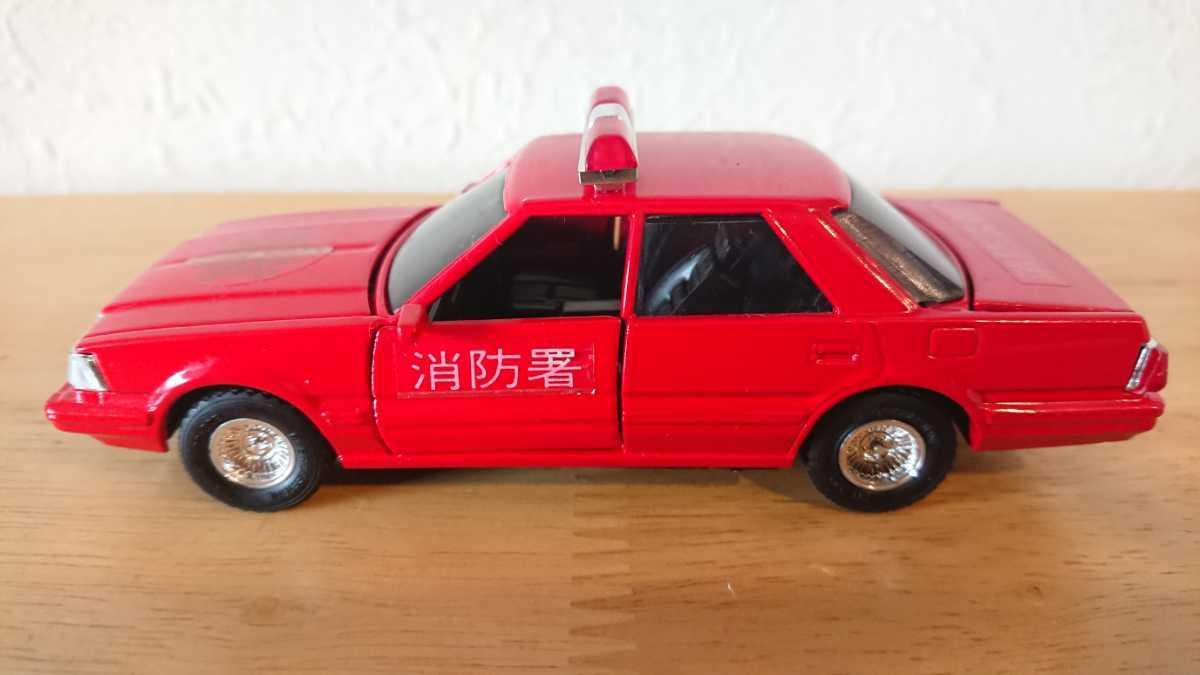 ヨネザワ ダイヤペット ミニカー トヨタ クラウン 消防広報車 消防車 日本製_画像3