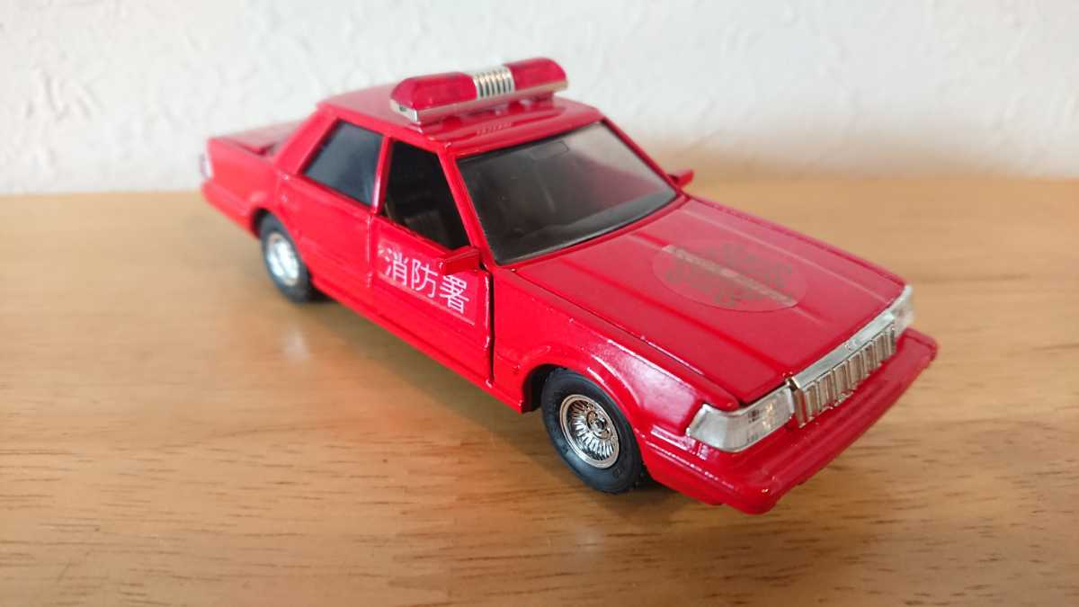 ヨネザワ ダイヤペット ミニカー トヨタ クラウン 消防広報車 消防車 日本製_画像7