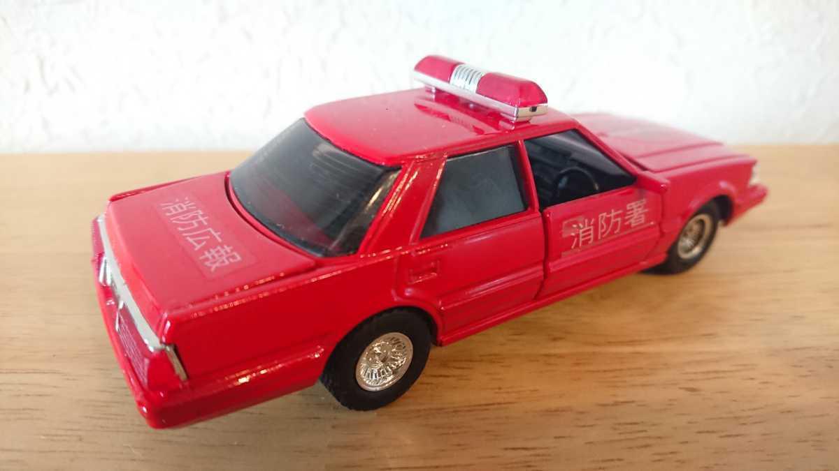 ヨネザワ ダイヤペット ミニカー トヨタ クラウン 消防広報車 消防車 日本製_画像6
