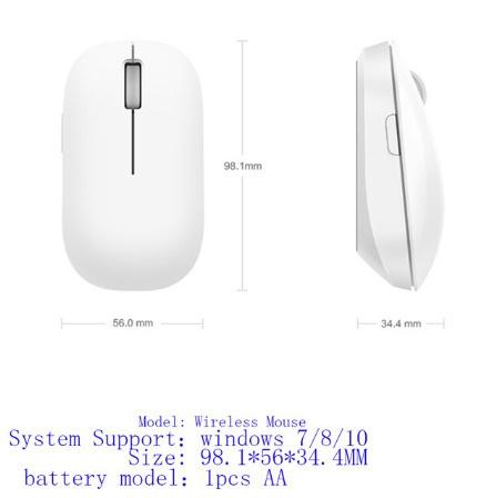 K1508 ポータブルマウスワイヤレス光学式 RF 2.4 Ghz 1200DPI デュアルモード接続コンピュータ Windows 7/8/10_画像6