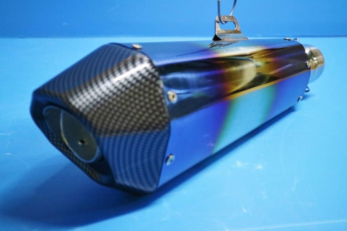 ヘキサゴン大 サイレンサー 60.5π 焼カーボン:ヘックス 六角 コニカルGP汎用MOTOマフラー ステンレス スリップオンGSX400インパルス1300R_画像3