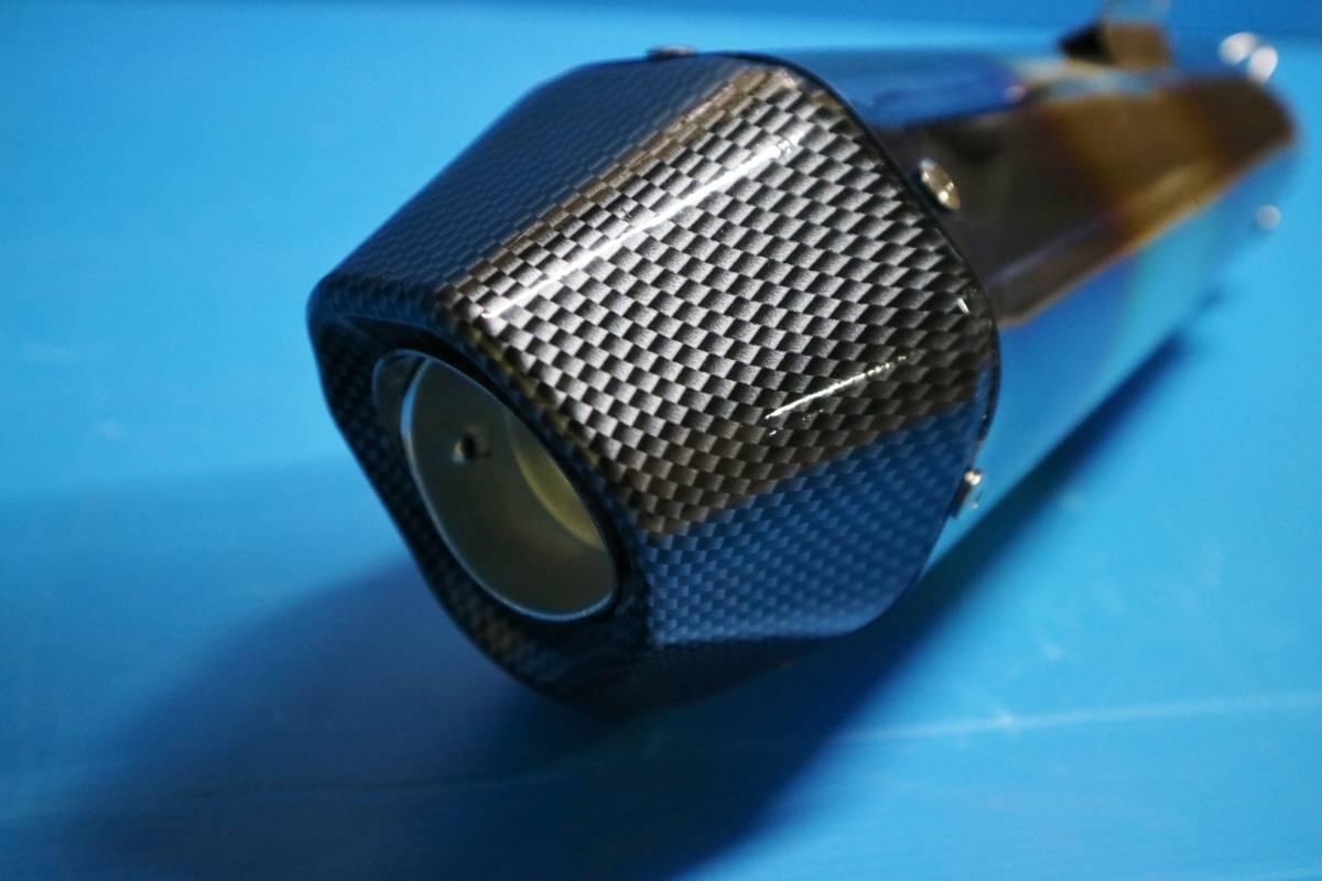 ヘキサゴン大 サイレンサー 60.5π 焼カーボン:ヘックス 六角 コニカルGP汎用MOTOマフラー ステンレス スリップオンGSX400インパルス1300R_画像6