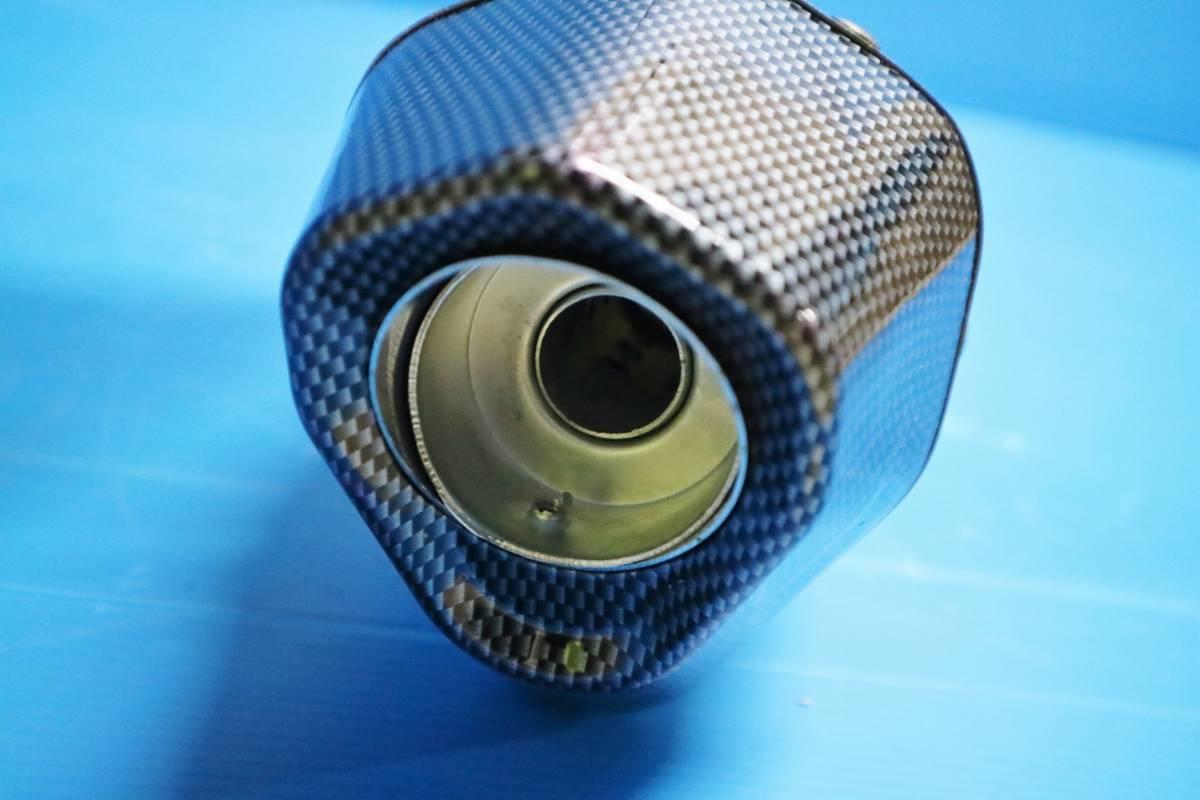 ヘキサゴン大 サイレンサー 60.5π 焼カーボン:ヘックス 六角 コニカルGP汎用MOTOマフラー ステンレス スリップオンGSX400インパルス1300R_画像5