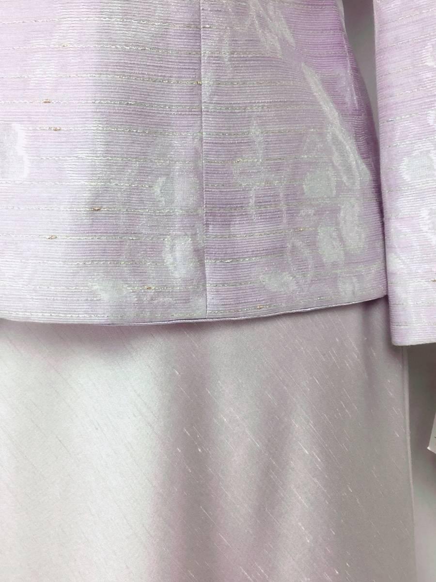 新品 11号 セットアップ スーツ 春夏 キミジマ 米沢織 ジャケット + ラピーヌ スカート カラーフォーマル 結婚式 レディース 40代50代60代_画像6