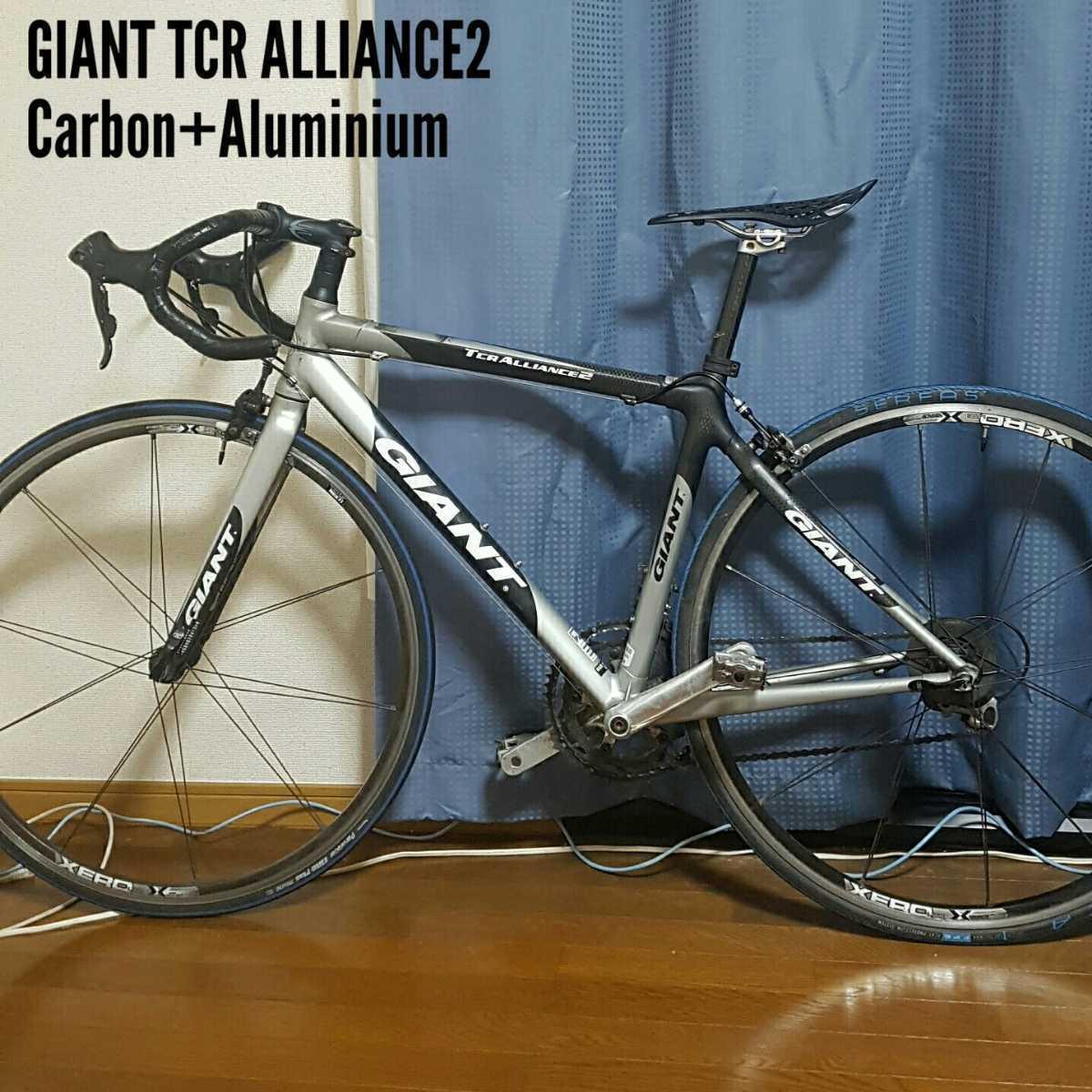GIANT TCR ALLIANCE 2 カーボン+アルミ ハイブリッドフレーム_画像1
