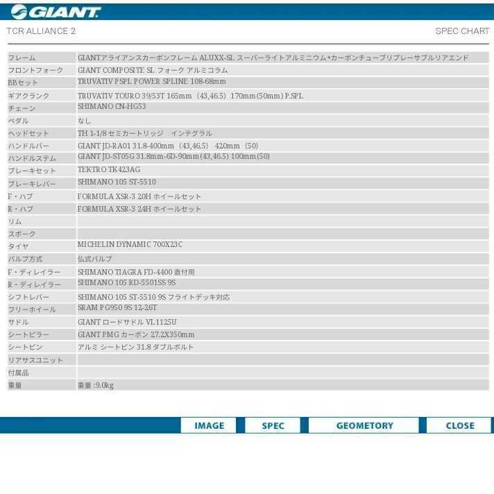 GIANT TCR ALLIANCE 2 カーボン+アルミ ハイブリッドフレーム_画像5