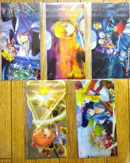 自遊空間×モンスターストライク★コラボキャンペーン マスクケース(ミニクリアファイル) 全5種 ルシファー×2,アーサー,ソロモン,ノア_画像2