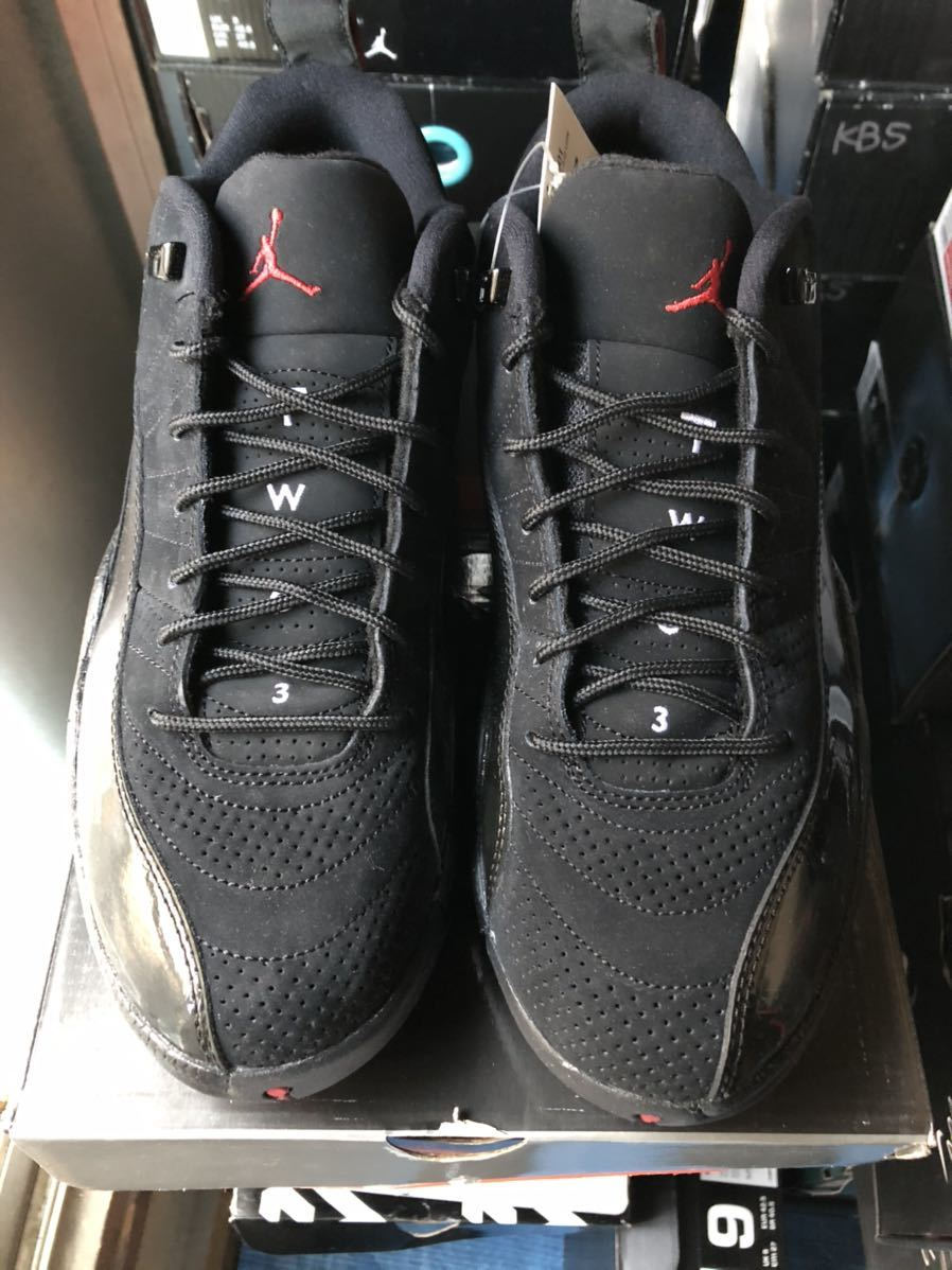 Nike Air Jordan12 Retro Low(ジョーダン)黒黒赤 us9(27cm)新品_画像1