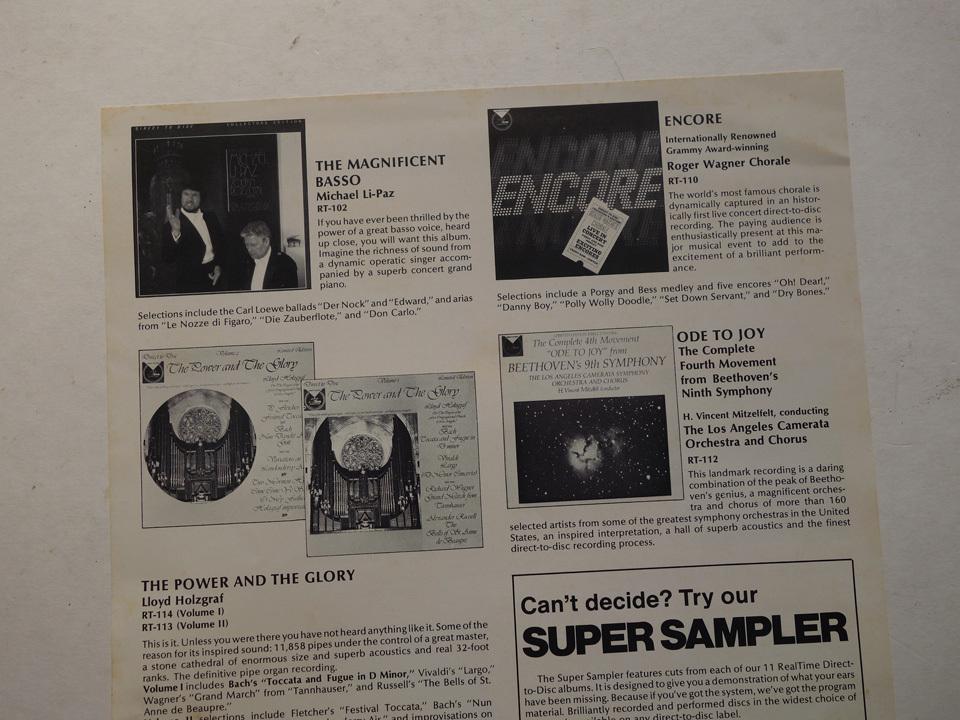 ドイツ製の超高音質盤 長岡鉄男絶賛のM&K Realtime(フラメンコ・フィーバーのレーベル)/ デジタル録音 / LImited Edition / RT-204_画像6