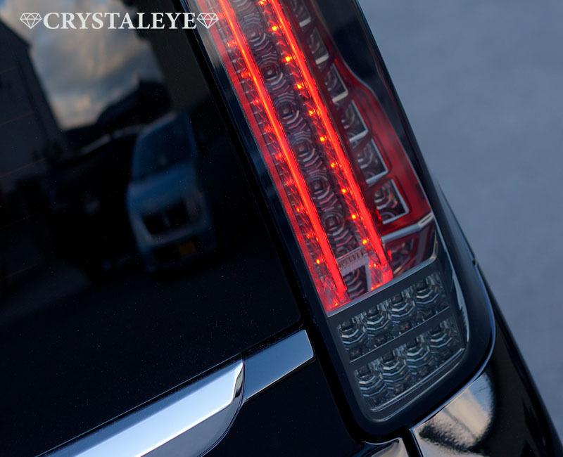 80 ヴォクシー、ノア、エスクァイア ファイバーLEDテール クリスタルアイ 新発売 L字型流れるウインカー仕様 送料無料 レッドタイプ_スモークタイプ