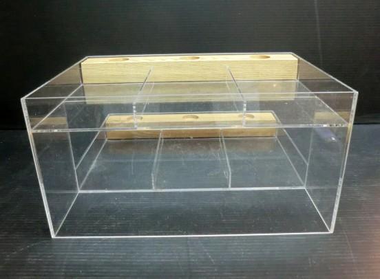 ★ アクリルケース 2段3列 W29.2xD30xH15cm 店舗 用品 什器 陳列 ケース ボックス 化粧品 展示用 美品 ★:_画像6