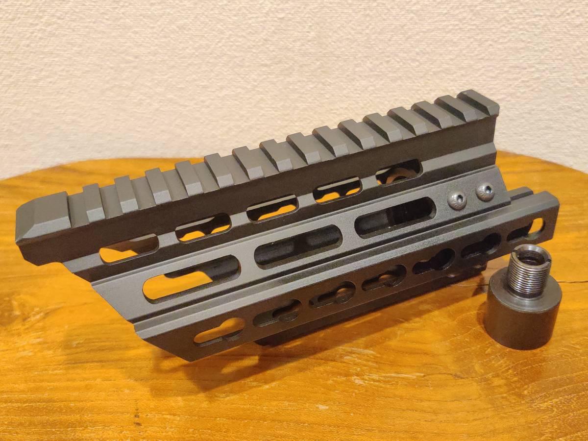 Battleaxe製 P90 電動ガン/ガスガン用 RAS レールハンドガード Keymod BK