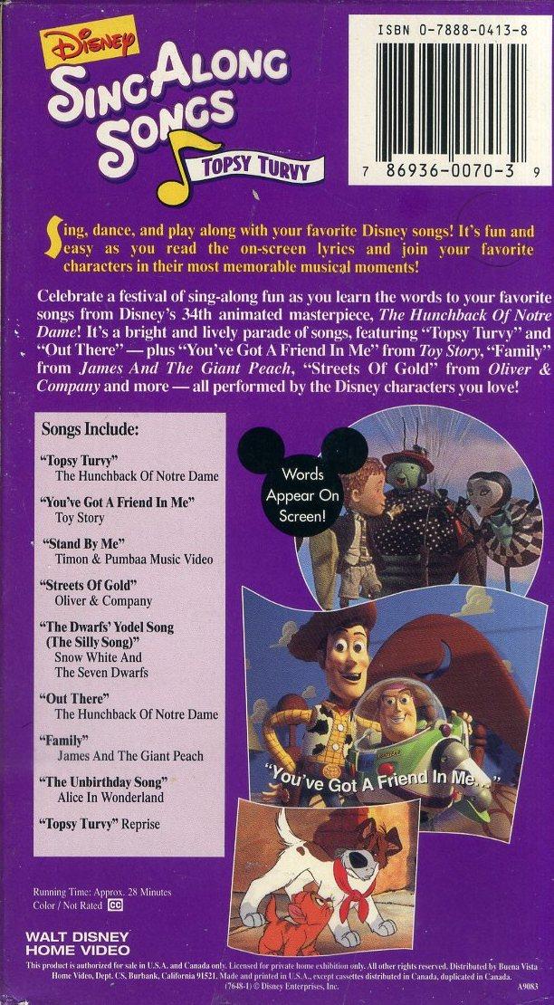 即決〈同梱歓迎〉VHS Disney Sing Along Songs ディズニー ソング◎その他ビデオDVD多数出品中∞t3784_画像2