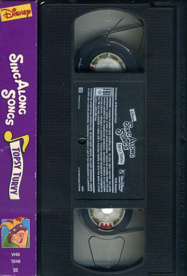 即決〈同梱歓迎〉VHS Disney Sing Along Songs ディズニー ソング◎その他ビデオDVD多数出品中∞t3784_画像3
