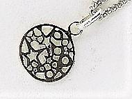 【アクセサリートップ】silver925 星の透かし・丸型_画像2