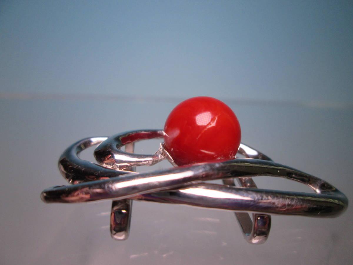 ☆血赤珊瑚玉 1,1cm のデザイン帯留め 12,13g_画像6