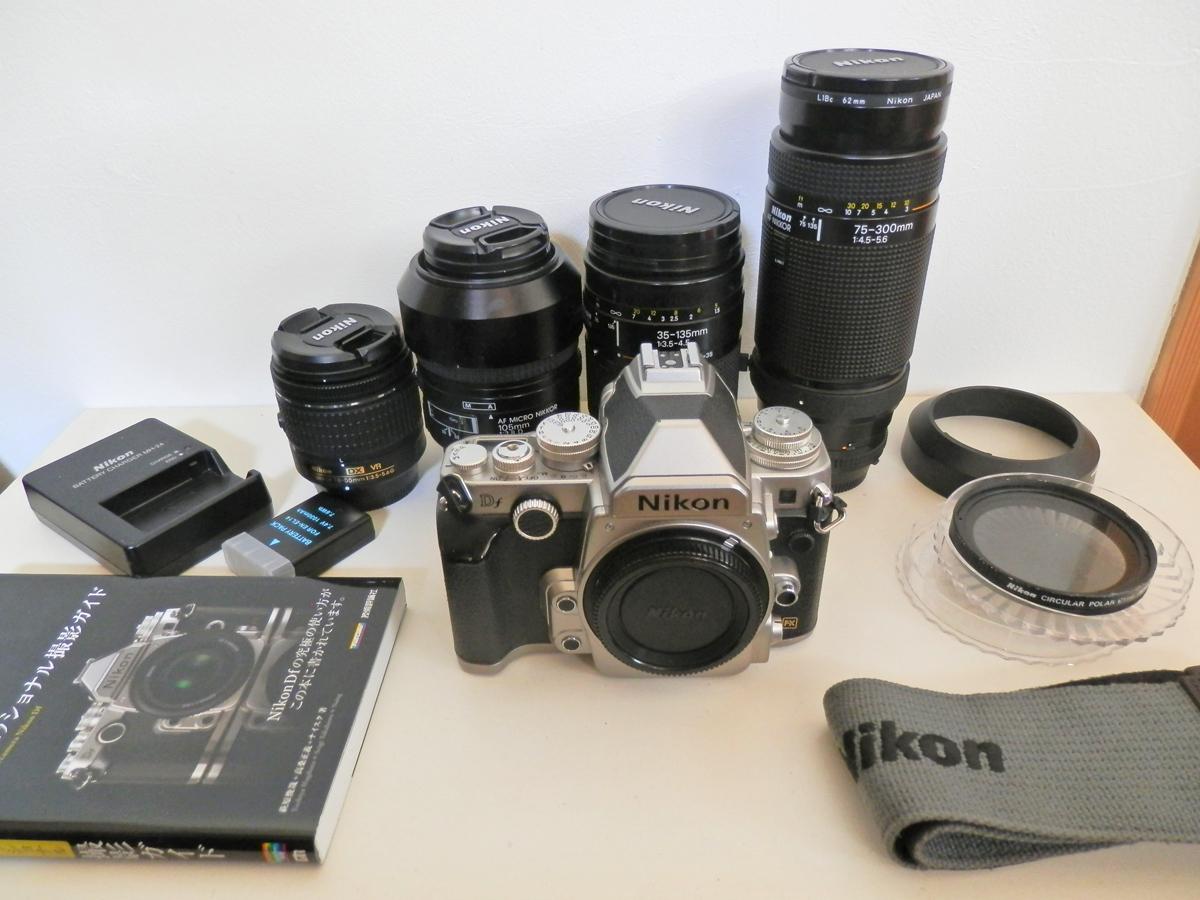 Nikon ニコン Df / レンズ4本(18-55/105/35-135/75-300)撮影ガイド本 撮影できてましたが…ジャンクで