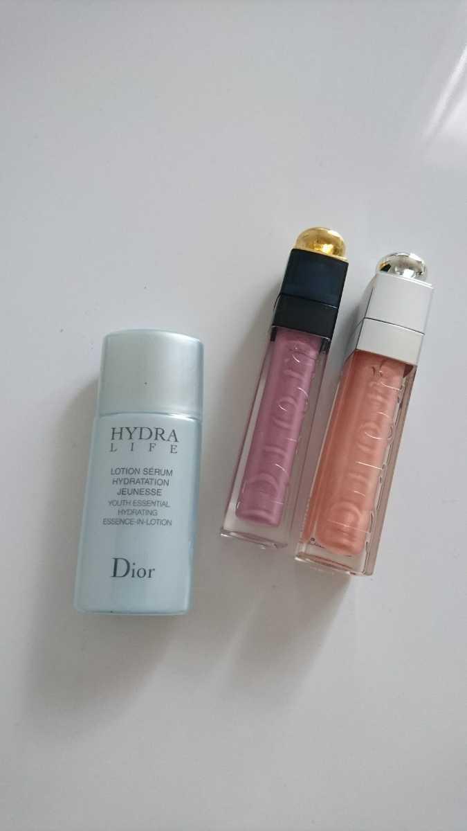 ディオール Dior リップ グロス 化粧水 ローション セット まとめ売り ショップ袋 メイク コスメ 化粧品