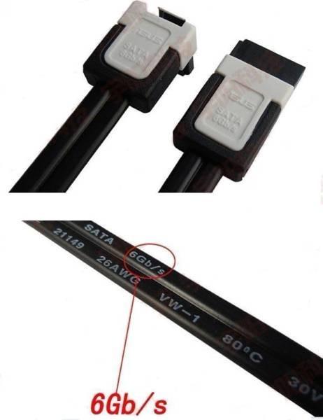 ASUS高品質SATA3.0ケーブル、6Gb/s対応、新品4本セット5_画像2
