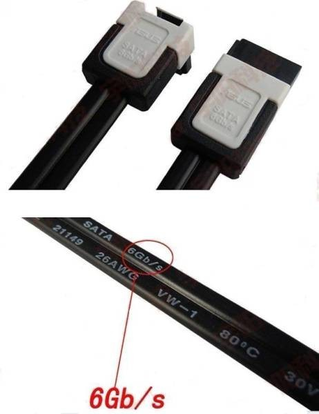 ASUS高品質SATA3.0ケーブル、6Gb/s対応、新品4本セット3_画像2