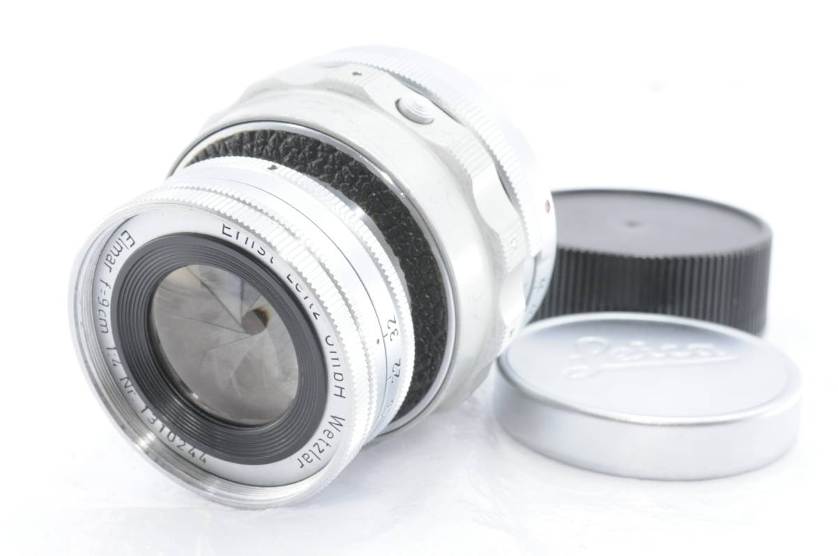 ★ ultra-best ★ Leica Leica Elmar with Elmer 9cm F4 ★ before and after cap # 3281