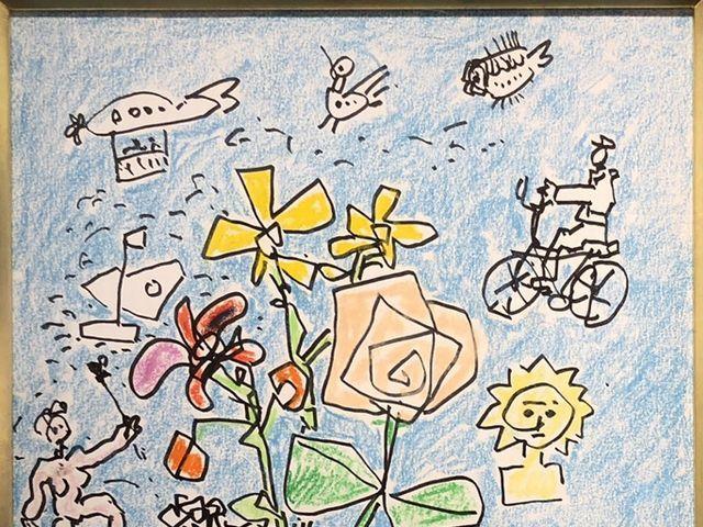 《芦》 真作 Paul AIZPIRI ポール・アイズピリ Fleurs(花) パステル画 肉筆真作 鑑定書付_画像3