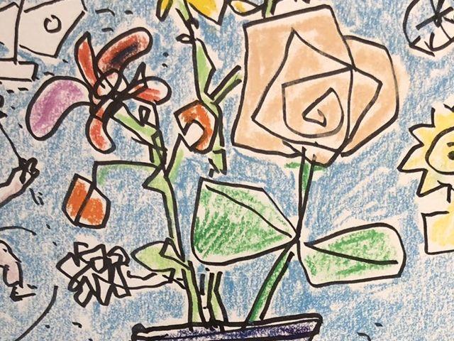《芦》 真作 Paul AIZPIRI ポール・アイズピリ Fleurs(花) パステル画 肉筆真作 鑑定書付_画像4