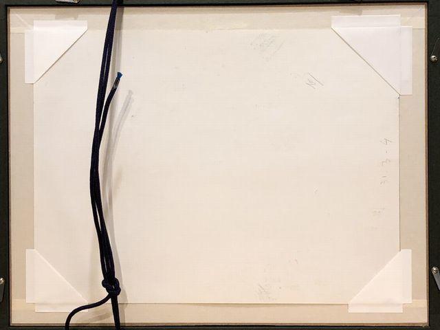 《芦》 真作 Paul AIZPIRI ポール・アイズピリ Fleurs(花) パステル画 肉筆真作 鑑定書付_画像8