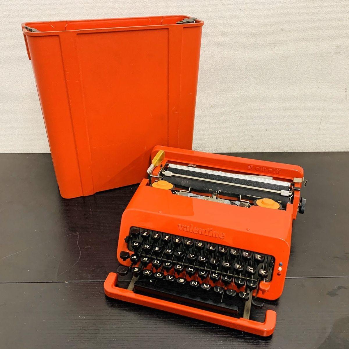 Y212-I13-1931 Olivetti オリベッティ Valentine バレンタイン タイプライター アンティーク ④