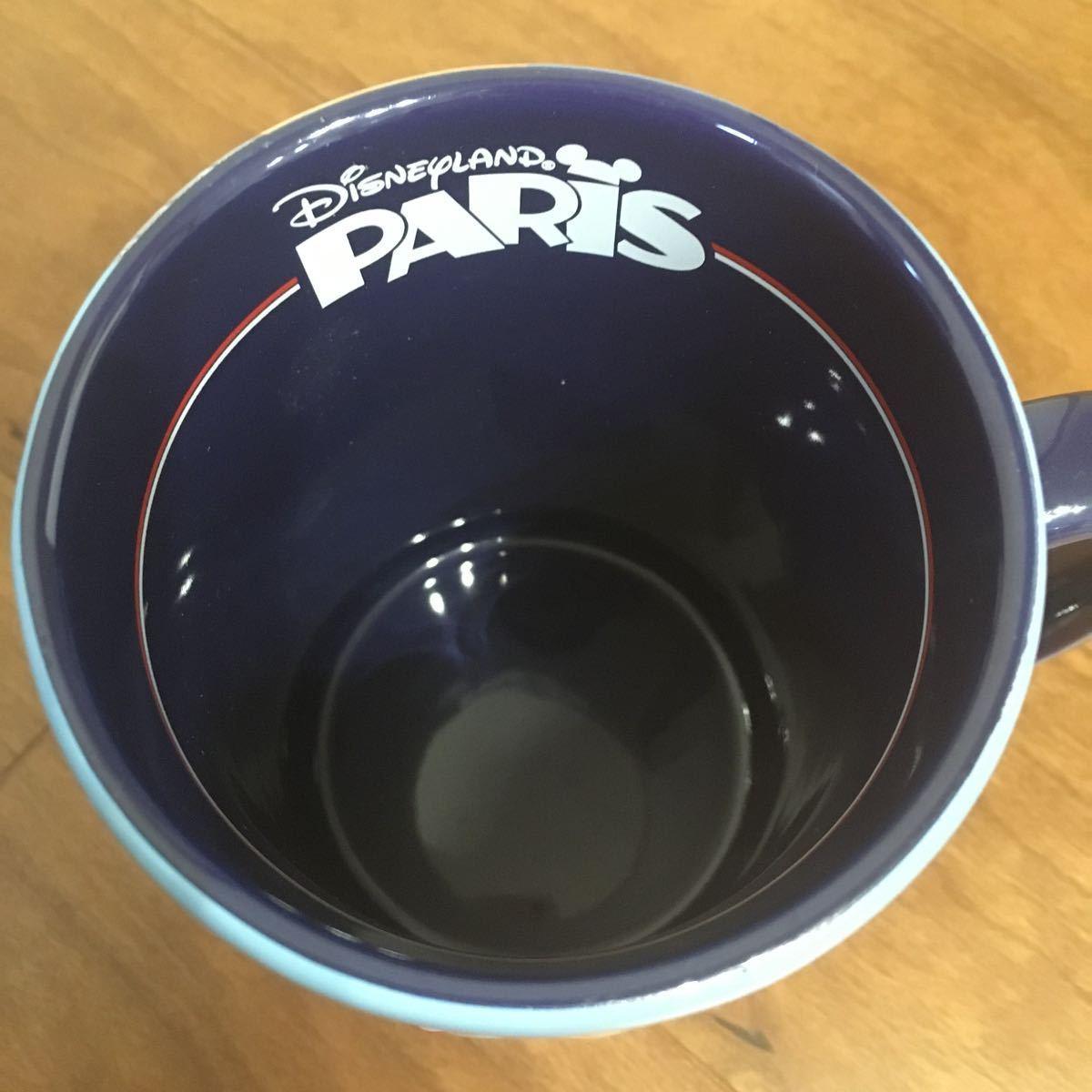 新品 未使用 パリ限定 ディズニーランド パリ PARIS マグカップ ビックサイズ ミッキー ミニー エッフェル塔 ダッフィ ロゴ入り ラメ_画像5