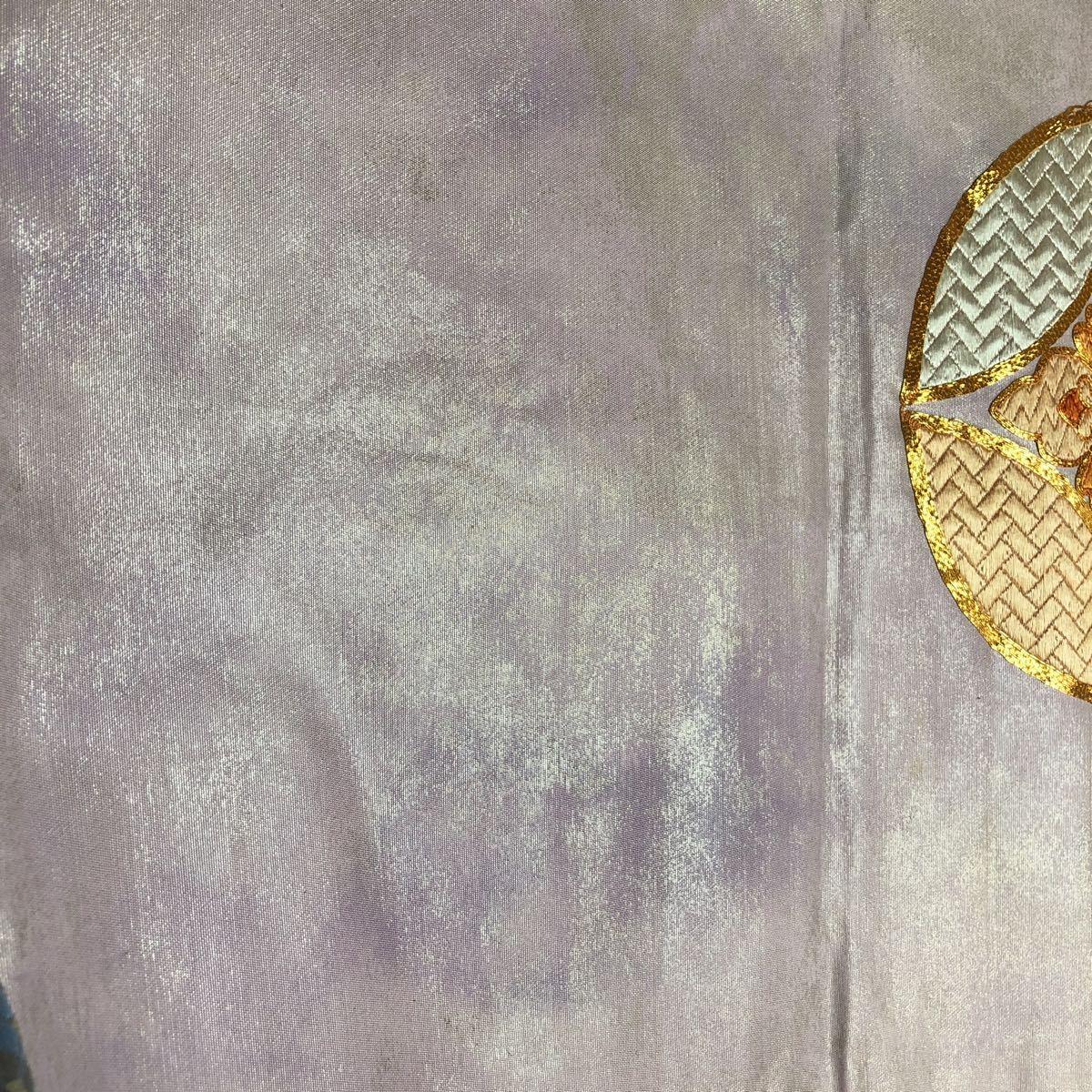 送料無料☆正絹ポイント柄名古屋帯和装 着物帯♪リメイク ♪巾約31cm長さ約353cm_画像4