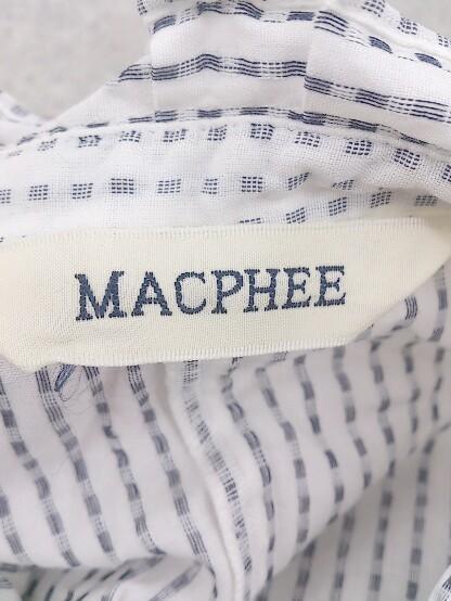 ◇ MACPHEE マカフィー TOMORROWLAND 総柄 長袖 シャツ ブラック ホワイト * 1002799436687_画像3