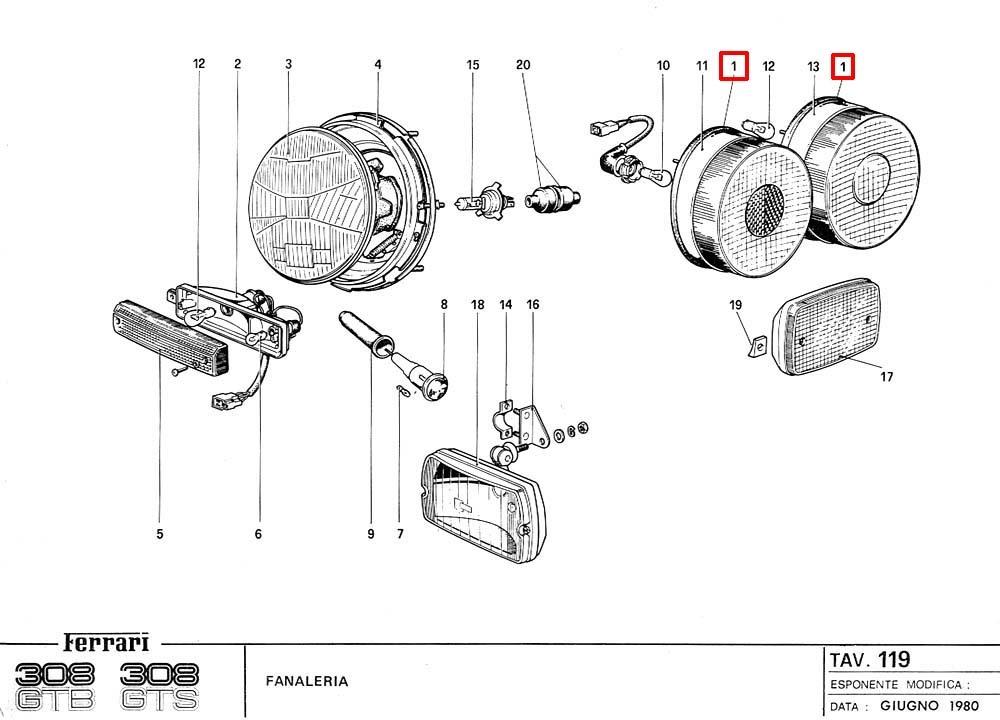 フェラーリ 純正 テールランプ ラバーガスケット 308GTB/GTS 308GTBi/GTSi 328GTB/GTS 512BB モンディアル 8 QV 3.2 #60592100_画像5