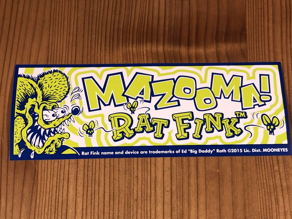 Rat Fink ラットフィンク バンパーステッカー mazooma デカール シール フィルム製 ステッカー mooneyes ムーンアイズ マゾーマ_画像1